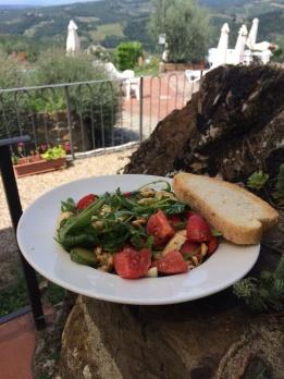 lauwe zomerse salade